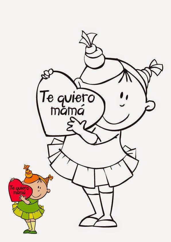 Maestra De Infantil Tarjetas Para Colorear En El Día De La Madre