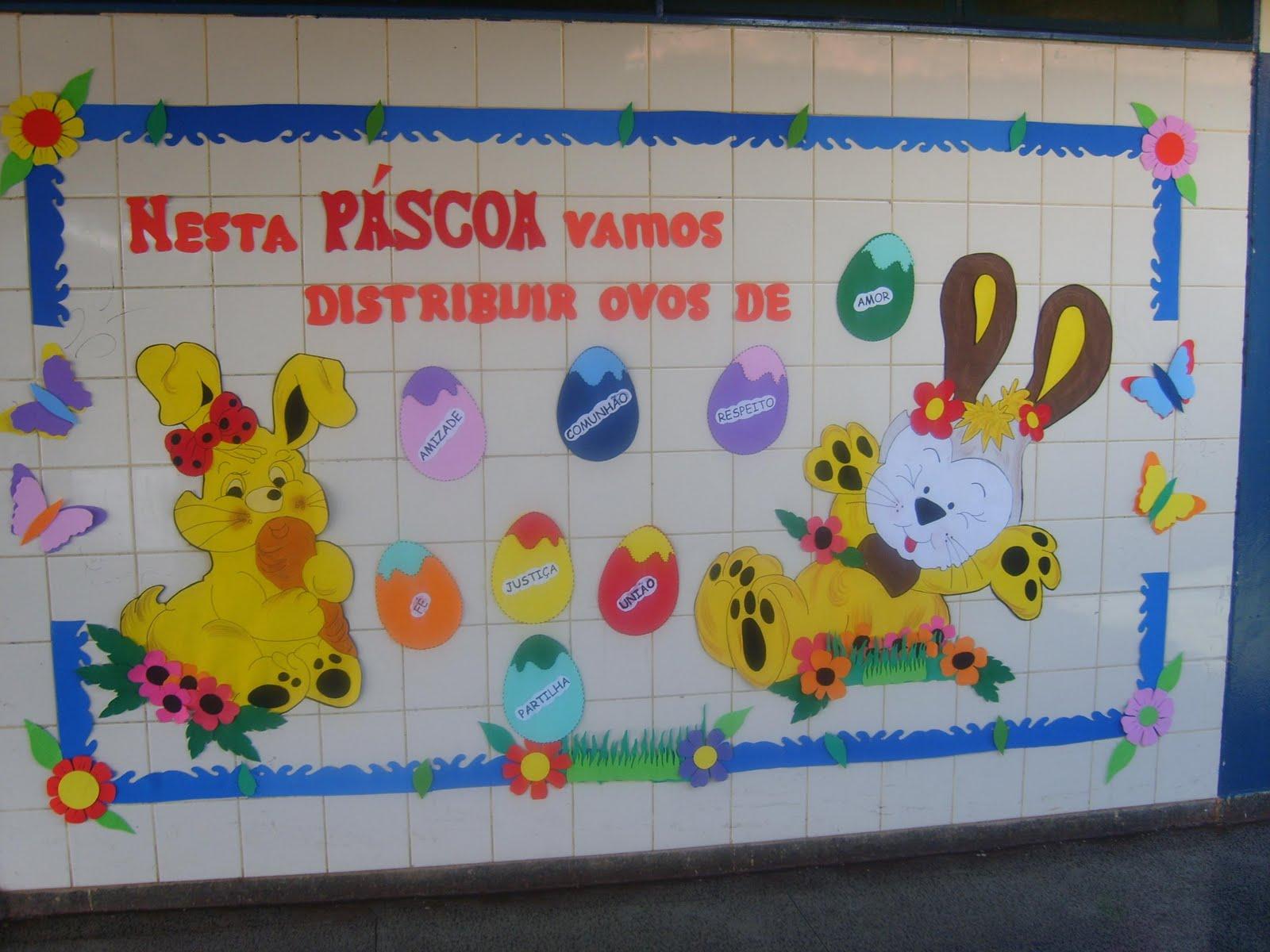 40 Ideias De Mural Para Páscoa Só Escola