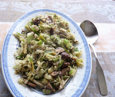 Cabbage with Leeks & Mushrooms