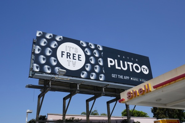 Pluto TV app billboard