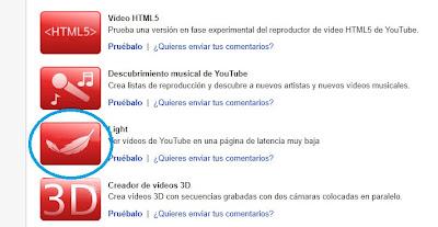 Acelera la carga de los vídeos de YouTube