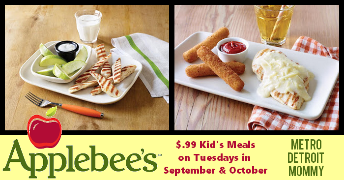 Applebees Wants To Help Families Transition The Back School Season With A Special Offer That Makes Eating Out More Affordable For