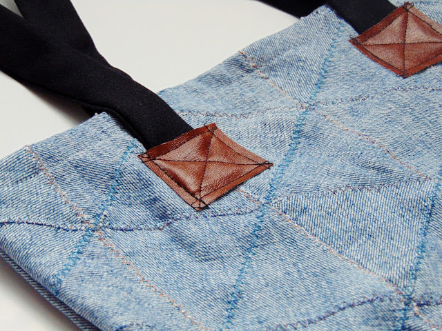 how to sew a jeans bag