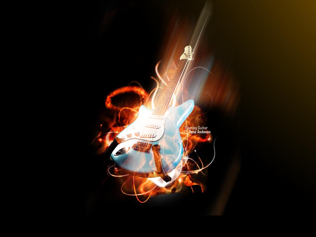 Flaming Guitars Digital Art Hd Wallpaper: Wallpapers Hd For Mac: Wallpaper Gitar 2013