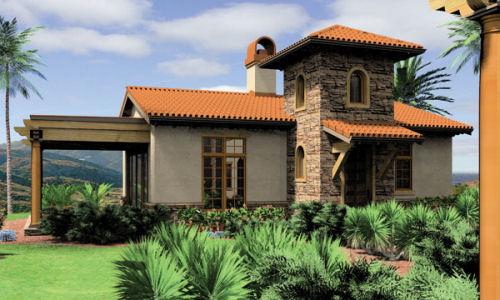 Plano arquitect nico y fachada de casa de campo de un for Casas con planos y fotos