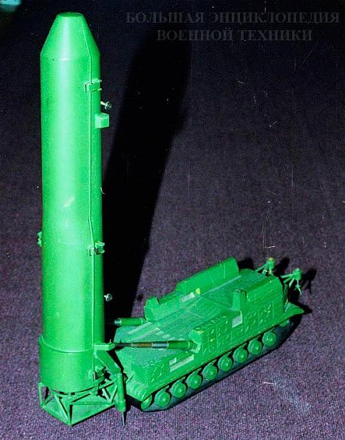 Модель проекта СПУ 8У253 с ракетой РТ-15, Музей истории и техники ОАО Кировский завод, 2001 г.