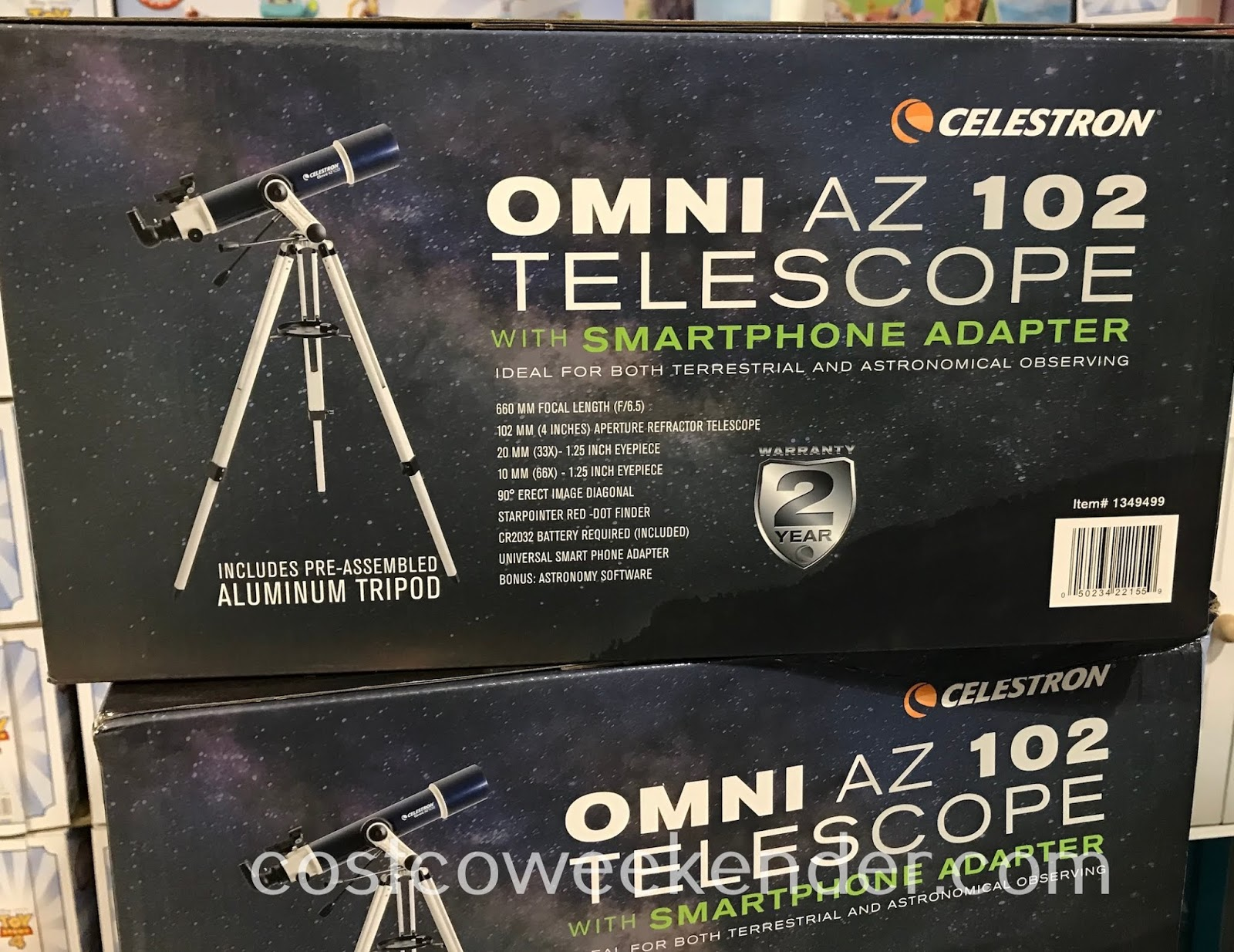Costco 1349499 - Celestron Omni AZ 102 Telescope: great for any aspiring astronomer looking at the stars