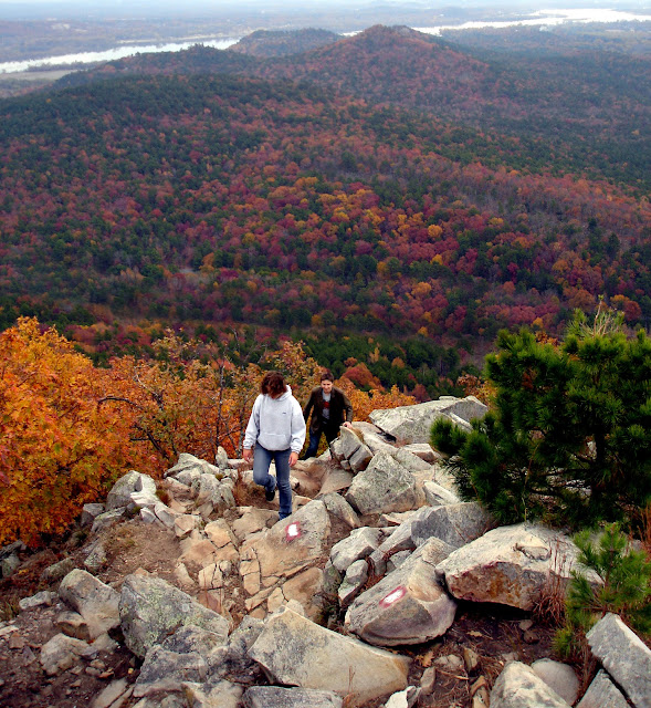 Fall at Pinnacle Mountain State Park, East Summit Trail, Little Rock, Arkansas. Photo by Johnnie Chamberlin