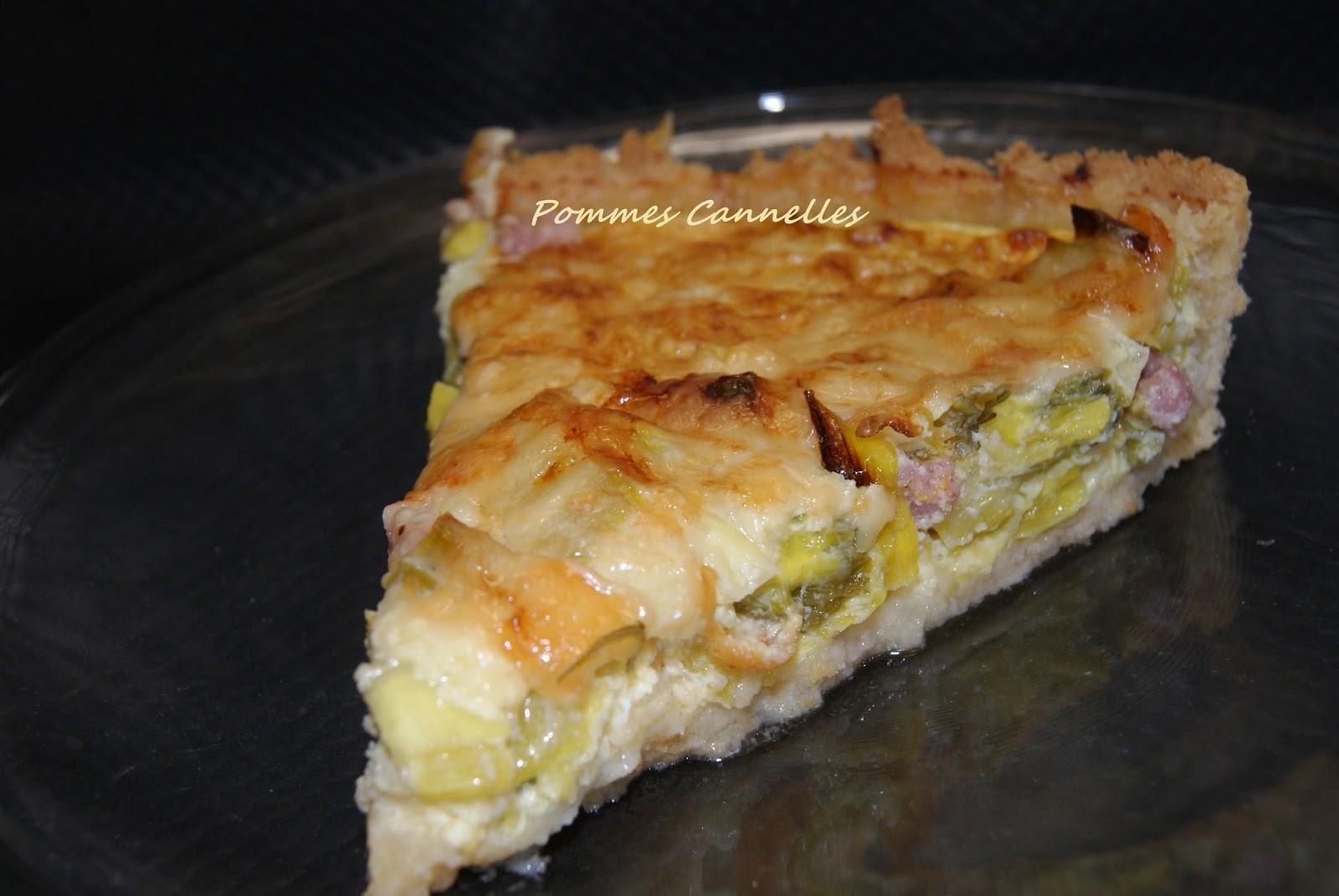 Pommes cannelles tarte aux poireaux sans gluten au vitaliseur - Tarte aux poireaux sans oeufs ...