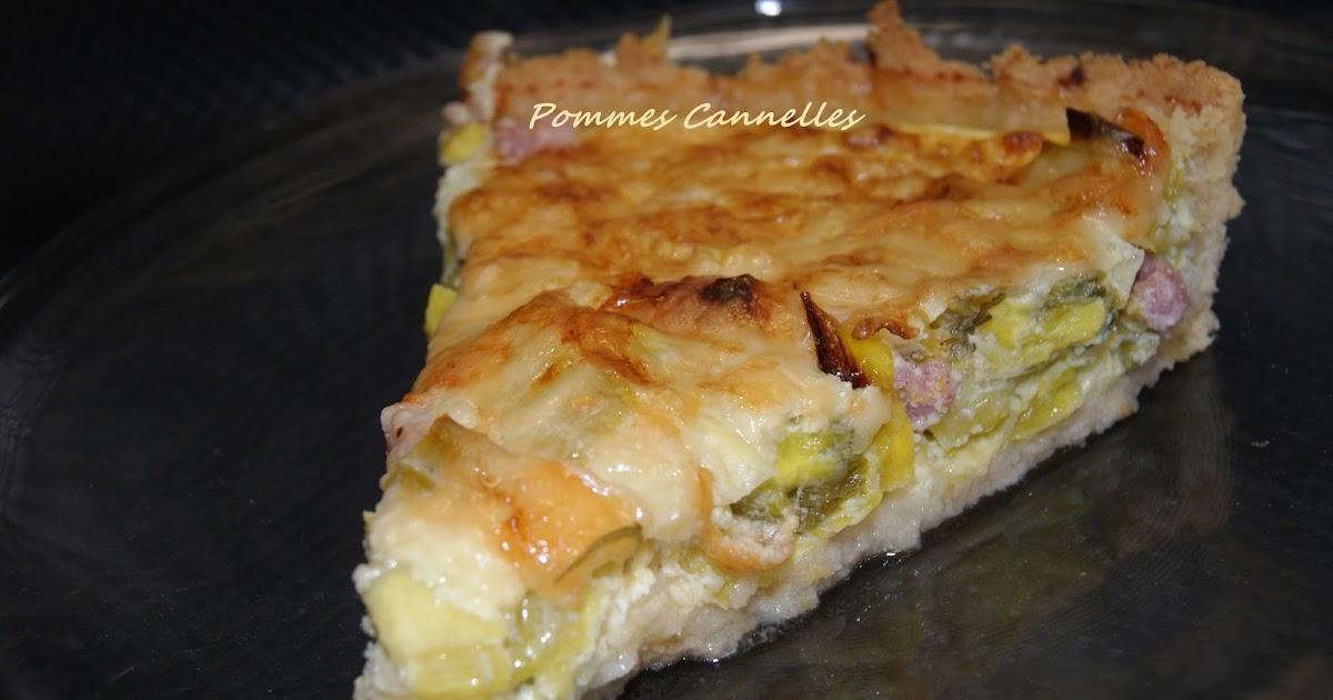 Pommes cannelles tarte aux poireaux sans gluten au vitaliseur - Tarte aux poireaux sans creme ...