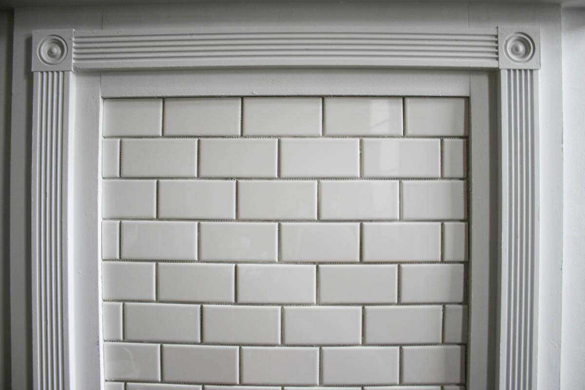 DIY Subway Tile Mantle