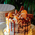 LAYER CAKE DE CHOCOLATE  RELLENO DE CREMA Y TOFFEE SALADO