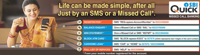 SBI Quick – Missed Call Banking