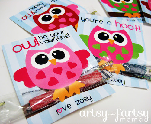 photograph about You Re All That and a Bag of Chips Printable named Totally free Printable Owl Valentines artsy-fartsy mama