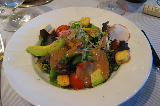 Salad at the Crown Grill aboard the Ruby Princess, copyright Carl Dombek