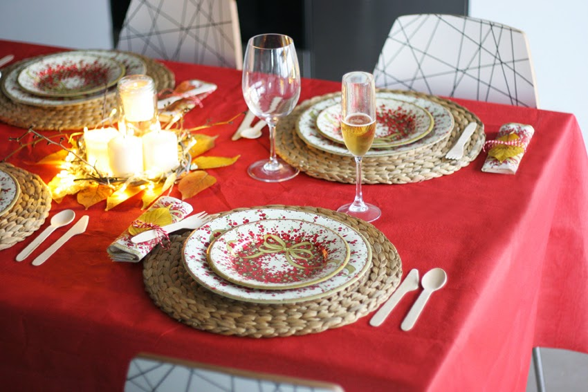 Mesa navideña de cartón con Elegance Party - Decorar en familia13