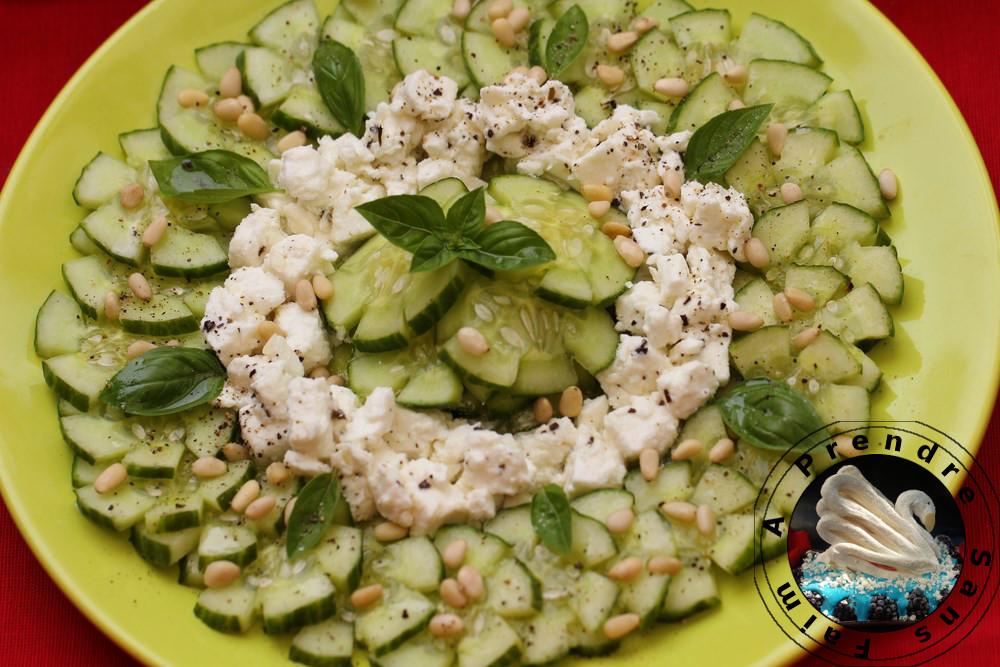 Salade de concombre feta