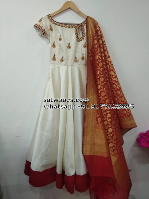 Off White Salwar with Brocade Duppatta