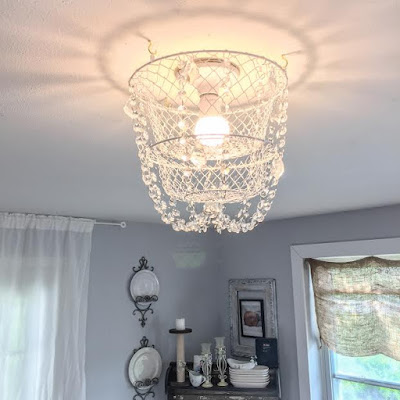 crystal chandelier with a basket