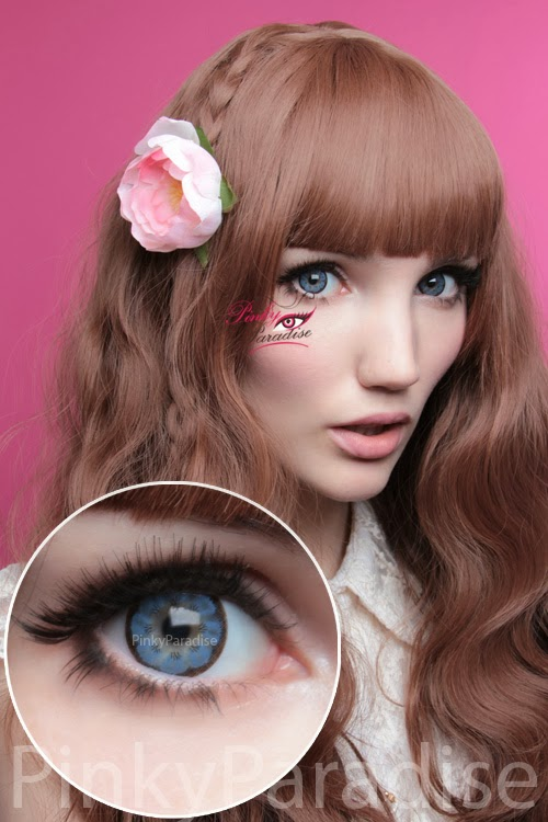 EOS Big Flower Blue Circle Lenses (Colored Contacts)