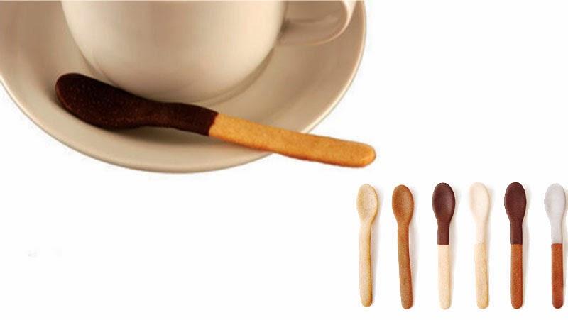 vajilla comestible: Spoon Biscuit de Shin Azumi