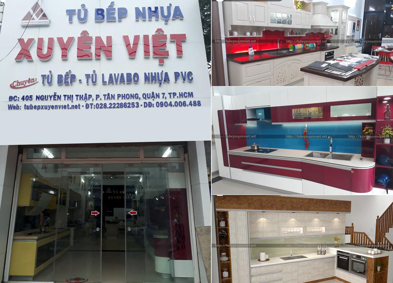 Tủ bếp nhựa Xuyên Việt HCM