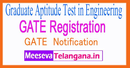 Graduate Aptitude Test in Engineering GATE 2018 Login Registration Exam Dates Notification