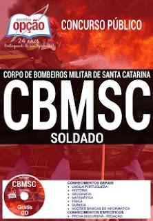 Apostila Concurso CBMSC CFSd -  Corpo de Bombeiros Militar SC 2017.
