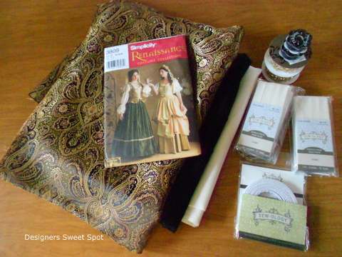 Renaissance costume tutorial supplies