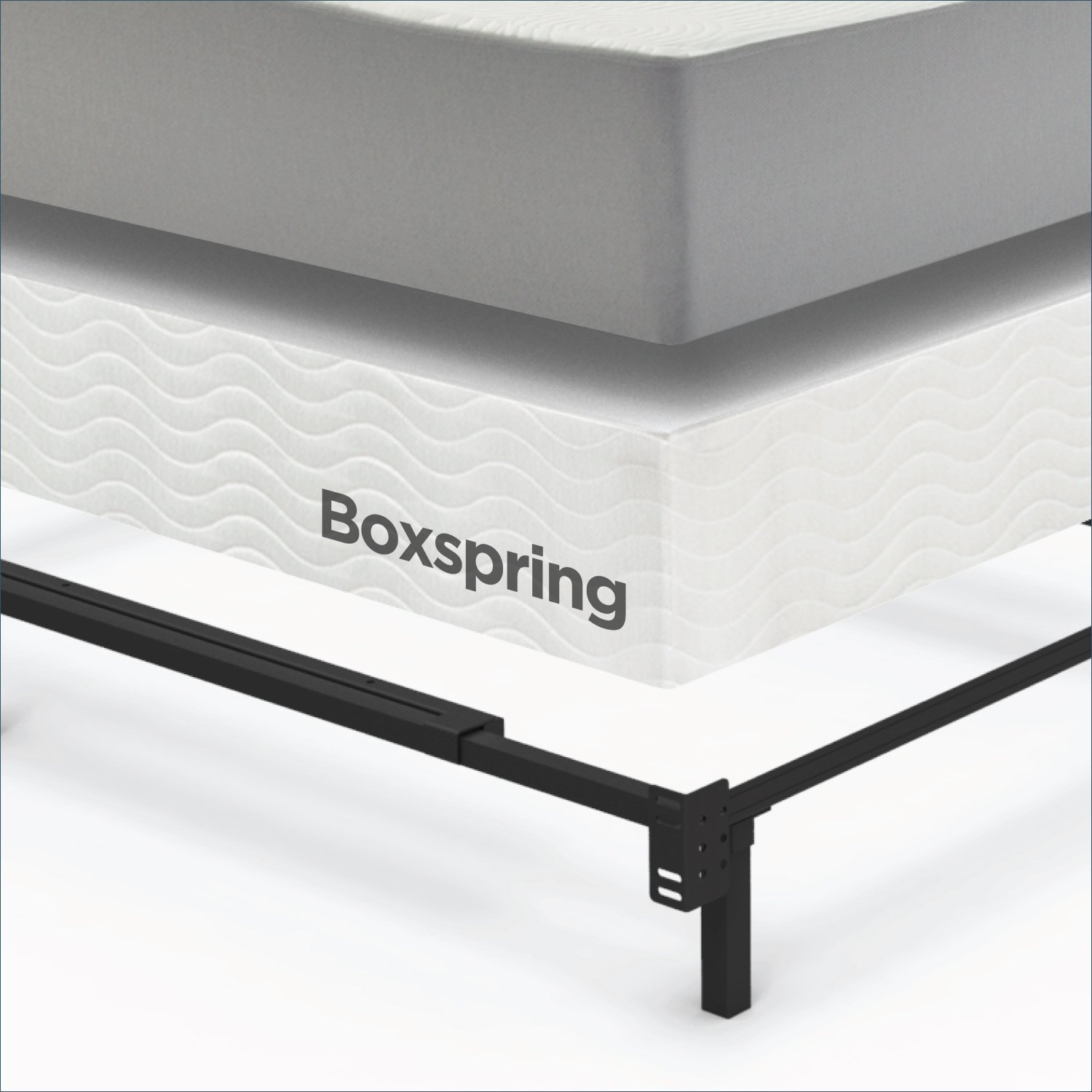 Adjustable California King Metal Bed Frame Zinus Compack 9 Leg Support For Box Spring Mattress Set Stability And With Legs Center