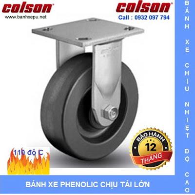 Bánh xe chịu nhiệt độ cao, bánh xe Phenolic Colson www.banhxepu.net