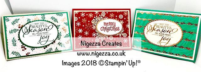 Stunning Christmas Cards Using Joyous Noel DSP Nigezza Creates