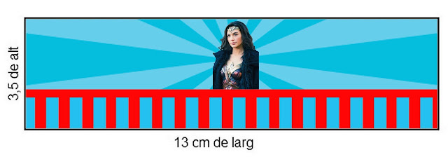 Película de la Mujer Maravilla: Etiquetas para Candy Bar para Imprimir Gratis.