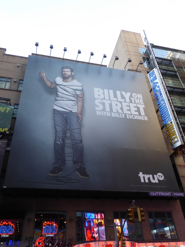 Billy on the Street season 5 billboard NYC