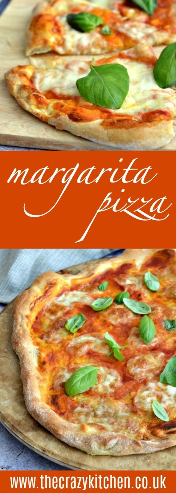 The Crazy Kitchen Classic Thin Crispy Margarita Pizza