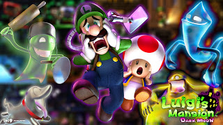 Luigi's Mansion Logo Wallpaper