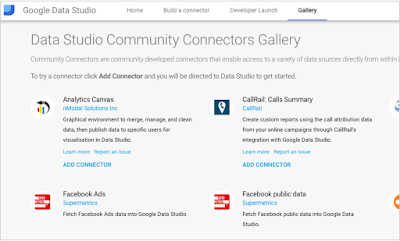 Google updates Datastudio: External connectors for 3rd party reports