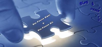 """Imagem de um quebra-cabeça montado, simbolizando o início do Projeto """"Um Pouco Aqui + Um Pouco Ali"""""""