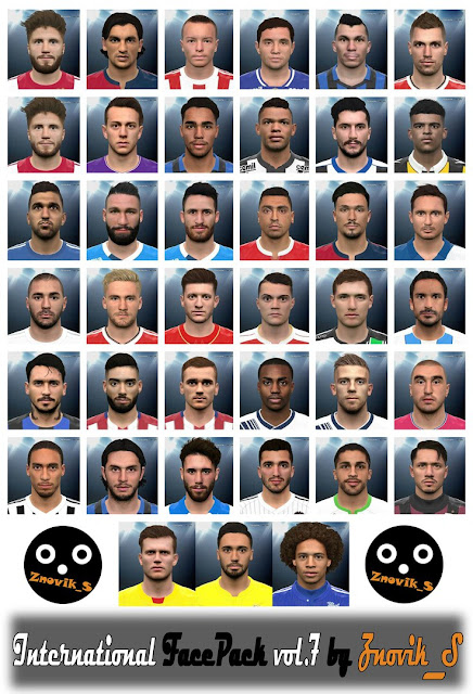 PES 2016 International FacePack vol.7 by Znovik_S