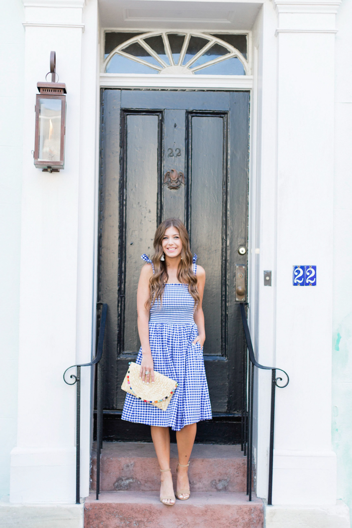 Gingham Smocked Dress