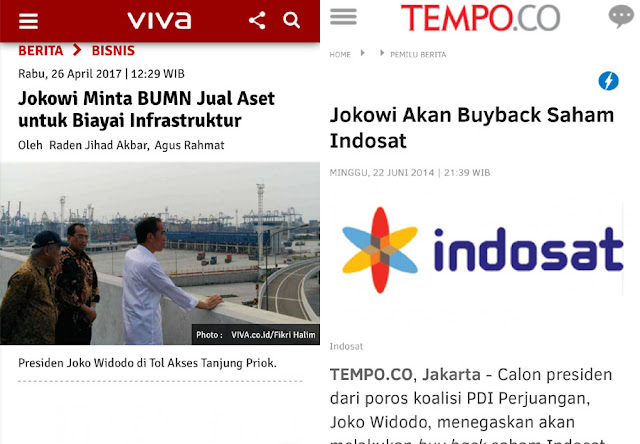 Jokowi Minta BUMN Jual Aset; Netizen: Waduh Lama-lama Negeri Ini Dijual, Padahal Janji Pilpres Buyback Indosat
