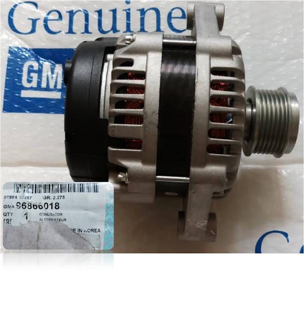Máy phát điện xe Captiva máy dầu chính hãng GM