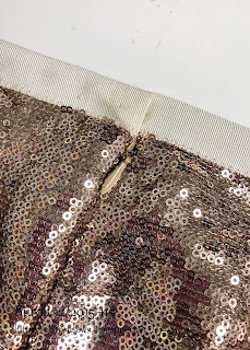 Burda 12 2015 #115 sequin maxi skirt petersham ribbon waistband and invisible zip