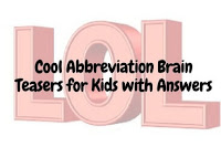 Cool Abbreviation Brain Teasers for Kids with Answers