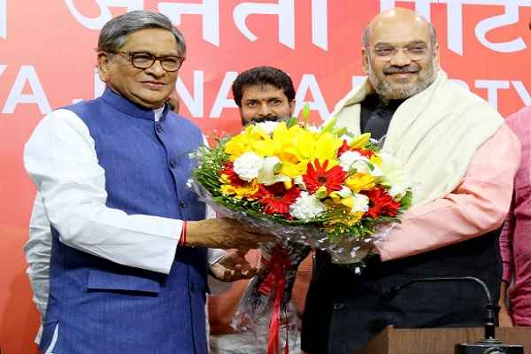 Ex MEA SM Krishna joins BJP in presence of Amit Shah