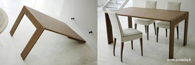 Mobiliario funcional espejo y mesa de interiores