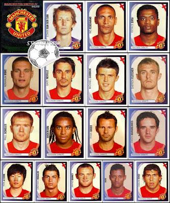 Panini Champions League 2007/08 manchester united