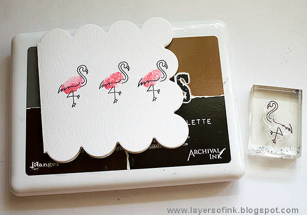 Layers of ink - Flamingo Watercolor Card Tutorial by Anna-Karin