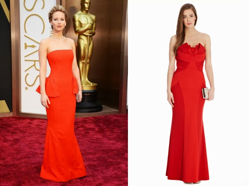 Jennifer Lawrence, Jennifer Lawrence Oscars 2014, Jennifer Lawrence Christian Dior, Oscars 2014 red carpet, Oscars 2014 best dressed list, Steal red carpet style, celebrity look for less. Coast Roxie Red Maxi Dress