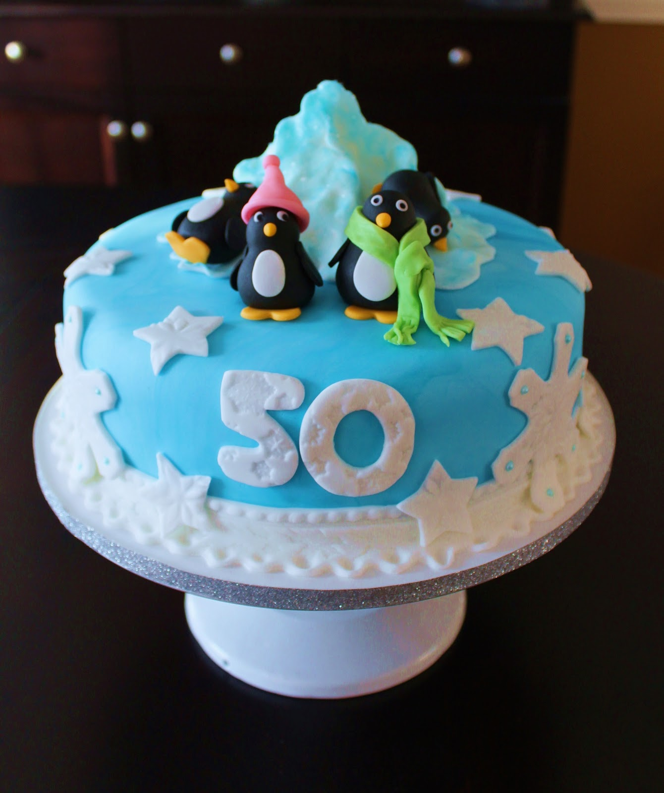 Creative Cakes By Lynn Penguin 50th Birthday Cake